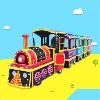 游乐设备厂家生产新款仿古无轨小火车 景区观光小火车