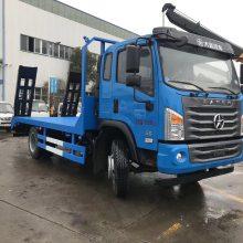 凯马1.6L蓝牌小挖机拖车拉小挖机的平板拖车厂家