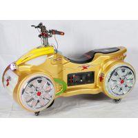 双人户外儿童太子摩托车广场彩灯玩具遥控车亲子发光摩托未来战车