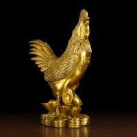 摆件铜鸡摆件大号纯铜公鸡金鸡元宝家居客厅装饰工艺品 斩婚外情