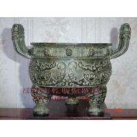 上海仿古青铜香炉 古铜香薰炉 青铜方鼎生产厂家