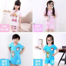 夏季童装T恤批发厂家 童装短袖批发 棉韩版小孩套装货源