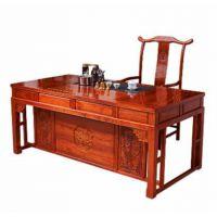 厂家直销中山红木家具茶台款式名琢世家刺猬紫檀