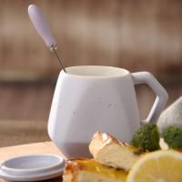 满天星创意咖啡杯钻石形状马克杯菱形陶瓷杯礼品水杯定制批发 无锡水杯团购