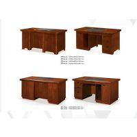 实木环保大宝漆烤漆老板桌中班台电脑办公桌财务办公桌有抽屉带锁办公桌