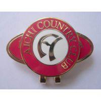 高尔夫球场礼品生产金属球夹、高尔夫球夹定做茗莉高端品质值得信赖