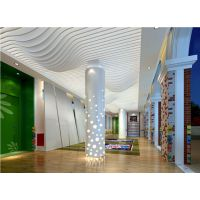 餐馆新颖造形铝方通吊顶亮点装饰