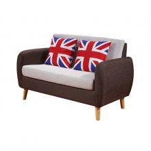 布艺休闲咖啡店沙发,简约时尚扶手卡座沙发