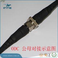 深圳因特厂家供应4芯odc铠甲光纤野战光缆连接器铠PU软光纤线1000米