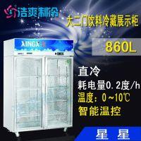 :STERNE/星星供应G7100-700欧款风冷单玻璃不锈钢冷藏柜/饮料展示柜