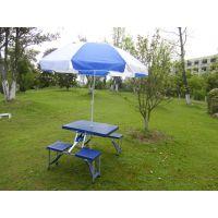 供应折叠桌椅、户外促销可折叠式桌子、移动式折叠连体桌椅
