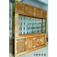 生态金龙鱼缸 欧派水族箱 玄关鱼缸 客厅大型屏风鱼缸