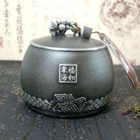 纯锡茶叶罐福寿安康金属盖密封储茶罐高档商务礼品礼盒包装定制厂家