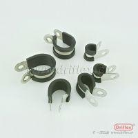 厂家直销 优质连胶条喉箍直径20mm 201 304 不锈钢 R型橡胶管夹