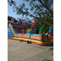 小孩玩的新款充气蹦床 赶会容易移动充气滑梯定做 充气弹跳城堡小房子厂家