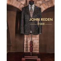 男装修身型枪驳领单排两粒扣棉西服、结婚西服、新郎礼服定制伴郎服工作服租赁
