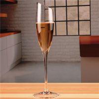 HOLY定制人工吹制无铅水晶玻璃高脚香槟杯起泡笛形斜口香槟酒杯