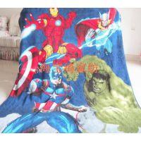 复仇者联盟2美国队长钢铁侠绿巨人珊瑚绒毛毯绒毯四季盖毯127B