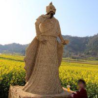 来图定制手工艺术品稻草人工艺品草人艺术干稻草编制艺术优质的