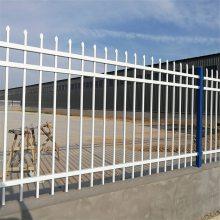 厂区铁艺栏杆 锌钢护栏多少钱一米 学校铁栅栏