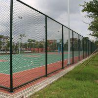 广州足球场围网安装价格 篮球场pe包塑围网 PE包塑围网绿色