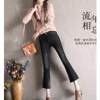 温州便宜牛仔裤批发韩版时尚高腰弹力修身小脚牛仔裤批发工厂