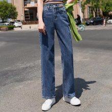 厂家便宜清货女装牛仔裤春夏新款时尚休闲破洞高腰牛仔裤10元牛仔裤批发