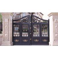 厂家销售铝艺大门 别墅小区庭院门 雕花铝艺大门 铝合金整套门