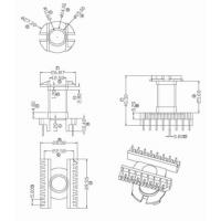 变压器骨架ER35 立式8+8针 BOBBIN 变压器材料