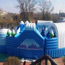 夏季移动水上乐园支架游泳池,心悦充气水滑梯游乐设备安全性高
