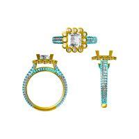 企业定制316不锈钢磁铁男戒指 女式 戒指14号—金属饰品定做厂家