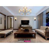 【山水装饰】科大花园155平米优雅新中式风格案例