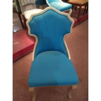 新款欧式实木雕花椅咖啡麻将接待洽谈椅子酒店书房软包椅子定制