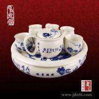 陶瓷手绘青花瓷功夫礼品茶具套装厂家