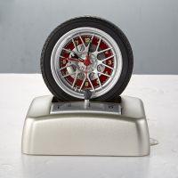 joyart外贸旋转轮胎造型引擎响声闹钟 转动时钟可定制加工 创意礼品闹钟