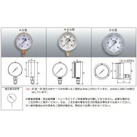 RIKEN 日本原装 ASBG100-250M 压力计 油压表
