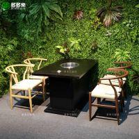 韩式音乐烤吧烧烤家具定做 复古工业风烤肉桌椅沙发批发