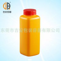 HDPE 1L带刻度线方塑料瓶 1000ml中大口包装方瓶 AP胶水瓶