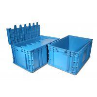 厂家直销KEF-KM6315塑料带盖可插箱塑料周转箱选科尔福