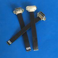 TYPE C无线充 T型 五金头 加长FPC软排线47MM 长度可定制 三星S8专用无线公头