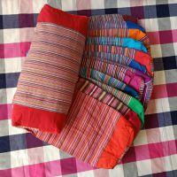 老粗布方形枕套 双层拉链 全棉棉外套+内胆结实耐用自己填充可拆