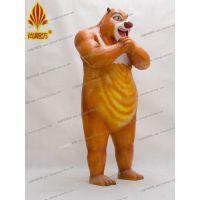 广州尚雕坊现货供应熊出没之夏日连连看熊大熊二卡通熊造型动画影视人物卡通道具可租