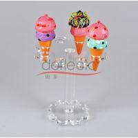 有机玻璃冰淇淋架 食品展示架 超市透明架 旋转架定制