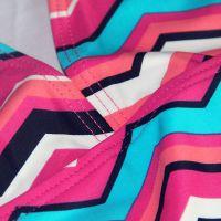 2017新款可爱防晒彩色条纹图案舒适连体儿童装泳衣批发一件代发