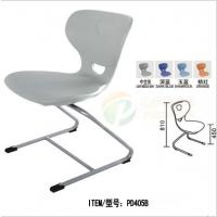加厚中空灰色学生课桌椅培训椅阅览室椅子弓形椅塑料会议椅
