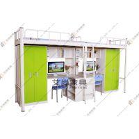 广东职工公寓床 艾尚家具单人间双人间我们都有合适的方案