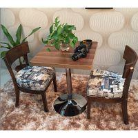 海德利 乡村简约 休闲西餐厅咖啡厅奶茶店甜品店桌椅 茶餐厅餐桌椅沙发卡座组合
