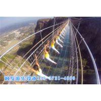 景区高空玻璃吊桥造价 河南润发游乐 专业吊桥生产厂家