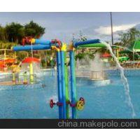 广州润乐水上乐园设备提供戏水小品——喷水彩柱
