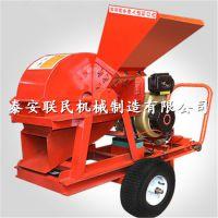 泰安联民供应 800型盘式原木材切片机 移动式木材削片机